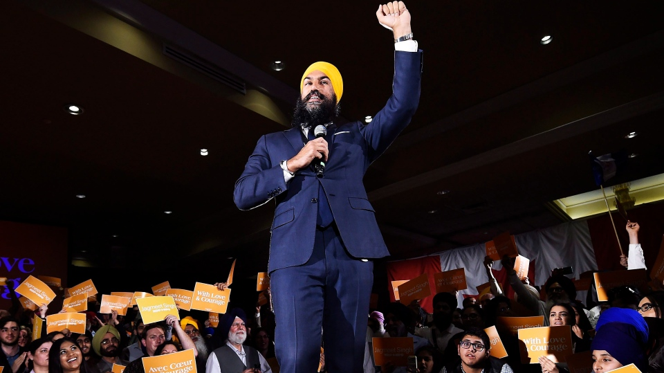 Jagmeet Singh launches his bid for the federal NDP leadership in Brampton, Ont., on Monday, May 15, 2017. (Nathan Denette/The Canadian Press)