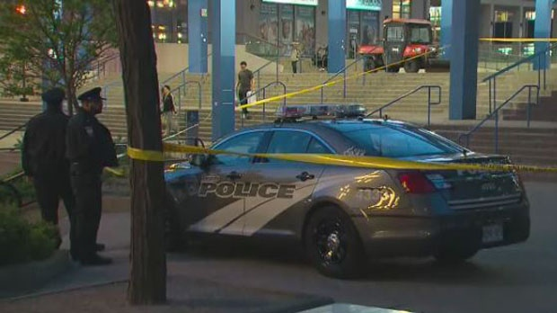 Three people are seriously injured following a stabbing at Scarborough Town Centre on Monday night. (CP24)