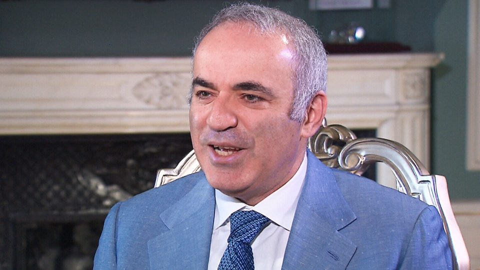 Chess grandmaster Garry Kasparov, a long-time critic of Russian President Vladimir Putin, speaks to CTV News on Monday, May 15, 2017.