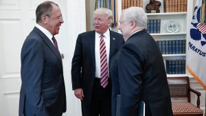 Sergey Lavrov, Donald Trump and Sergei Kislyak