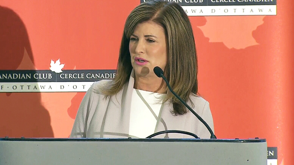Interim Conservative leader Rona Ambrose speaks at a Canadian Club event in Ottawa, Tuesday, May 16, 2017.
