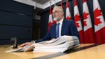 Auditor General Michael Ferguson, speaks during a press conference at the National Press Theatre in Ottawa on Tuesday, May 16, 2017, following the 2017 Spring Reports being tabled in the House of Commons. THE CANADIAN PRESS/Sean Kilpatrick