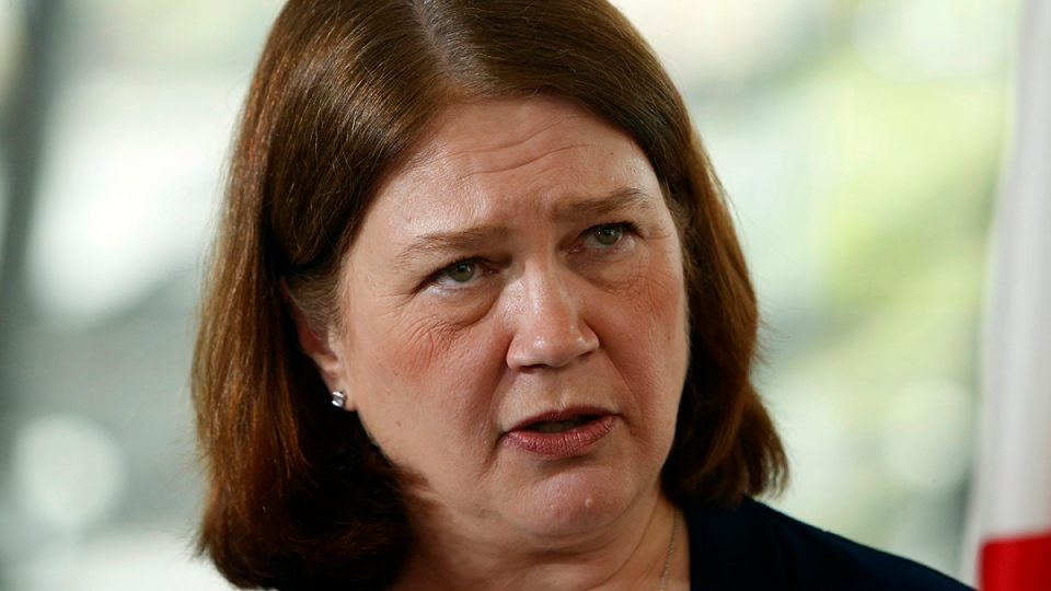In this file photo, Minister Jane Philpott delivers a speech to the Economic Club of Canada in Ottawa on Tuesday, May 16, 2017. (Fred Chartrand / THE CANADIAN PRESS)