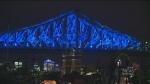 Jacques-Cartier Bridge lights