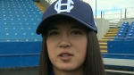 Harbourcats make history with first female player