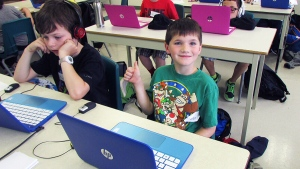 Kids trade campfires for coding at this cool summ