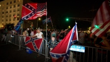 Pro-monument protesters gather