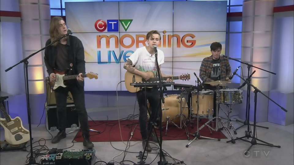 Scott Helman performs on CTV Morning Live in 2017.