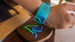 A wristband visitors will wear at the new Volcano Bay water park in Orlando, Florida. (Universal via AP)