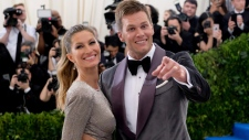 Gisele Bundchen and Tom Brady in New York