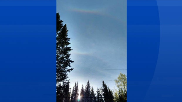 "Carrie Gascoigne spotted this intriguing ""grin"" in the sky over her parents' home in Esdraelon New Brunswick."