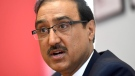 Minister of Infrastructure and Communities Amarjeet Sohi participates in an interview with the Canadian Press in Ottawa on Wednesday, May 17, 2017. (Justin Tang / THE CANADIAN PRESS)
