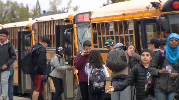 Some students in Calgary will be finishing at 11:30 a.m. on Fridays, to save money on bus costs.
