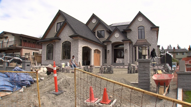 Monster homes are springing up at a rapid pace in Coquitlam. (CTV)