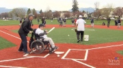 Baseball diamond attracts kids with disabilities