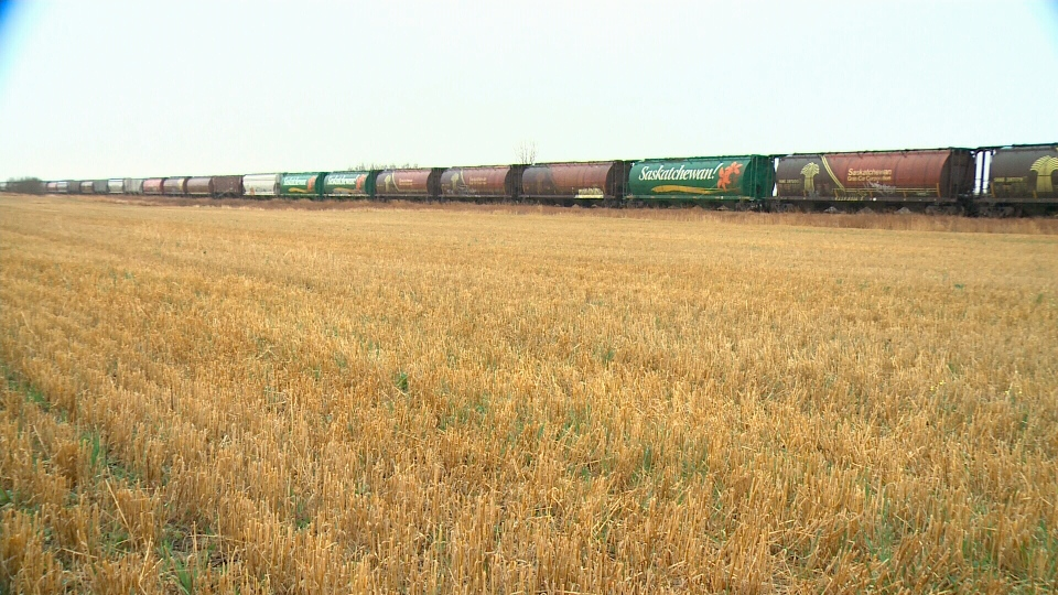 Canadian grain farmers are still waiting to offload last year's crops amid a major backlog in train service.