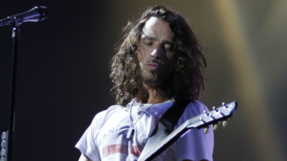 Musician Chris Cornell of Soundgarden performs during the Lollapalooza music festival in Grant Park in Chicago on Sunday, Aug. 8, 2010. (AP / Nam Y. Huh)