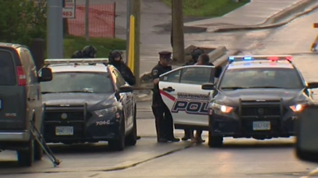 Police stormed the home at 50 Stirling Ave. shortly before 7 a.m., and arrested a man.