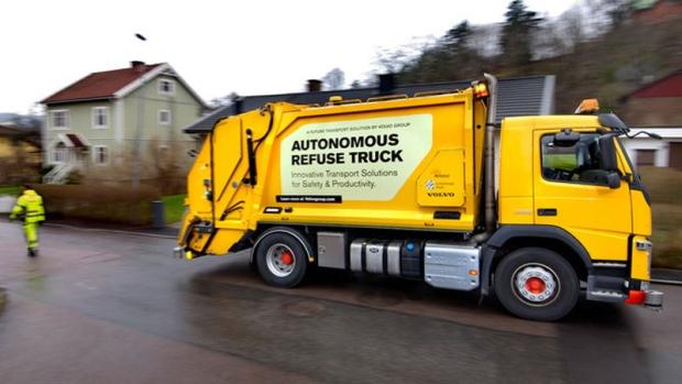 self-driving garbage truck