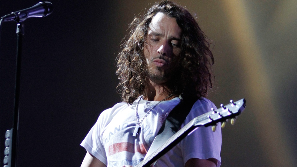 Musician Chris Cornell of Soundgarden performs during the Lollapalooza music festival in Grant Park in Chicago, Sunday, Aug. 8, 2010. (AP Photo/Nam Y. Huh)