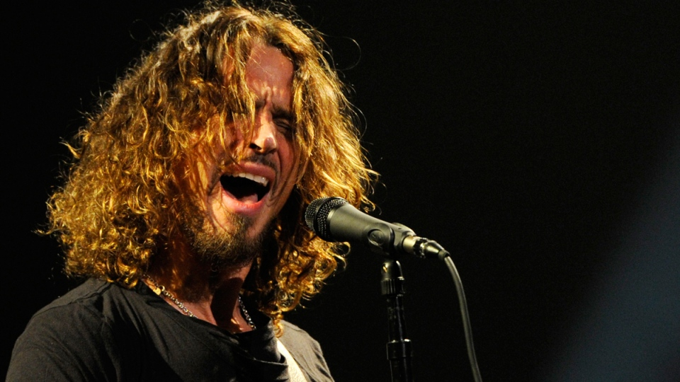 Chris Cornell of Soundgarden in concert at the Wiltern in Los Angeles, on  Feb. 13, 2013. (Chris Pizzello/Invision / AP)