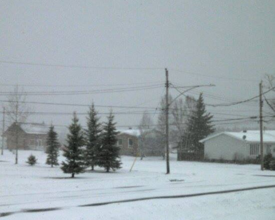 The snow is already falling in Opasatika. (Linda Fleet)