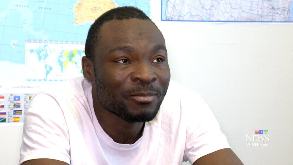 Seidu Mohammed speaks to CTV Winnipeg in this undated image.