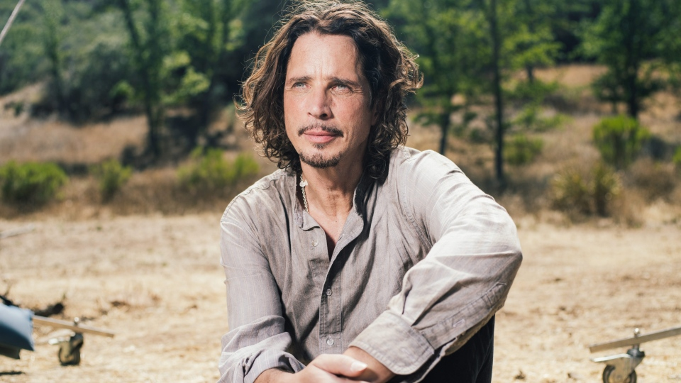 In this July 29, 2015 file photo, Chris Cornell poses for a portrait to promote his latest album, 'Higher Truth,' during a music video shoot in Agoura Hills, Calif. (Casey Curry / Invision / AP)