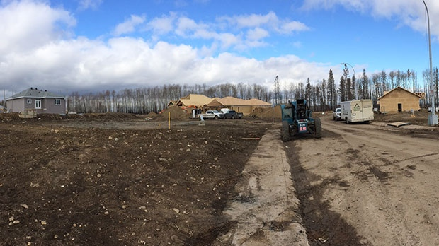 New homes are going up in Fort McMurray's Beacon Hill neighbourhood