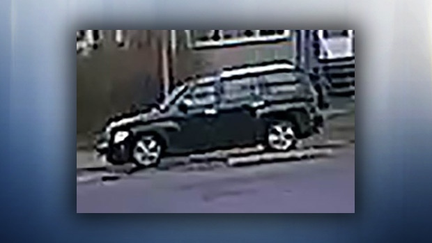 EPS released a still taken from surveillance footage showing a dark-coloured Chevrolet HHR seen at about 3 p.m. in the area of 10682 61 St. on Sunday, April 30, 2017. Supplied.