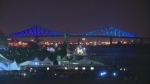 The inaugural light show on the Jacques Cartier Bridge was May 17, 2017