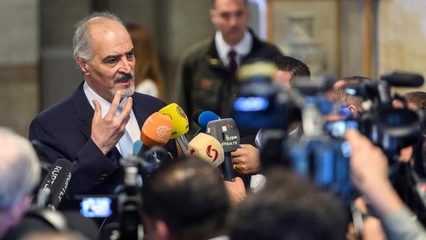 Bashar al-Ja'afari in Geneva