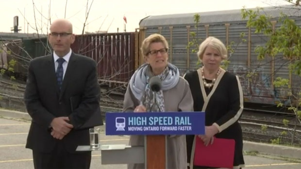 High-speed rail line between Toronto-Windsor will boost economic activity: Wynne