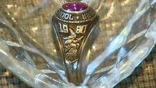 class ring from Brewer High School