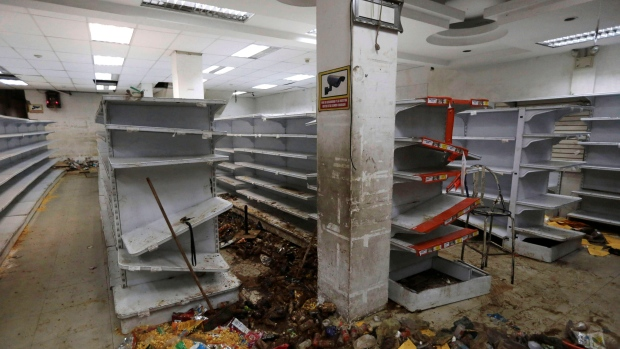 Looting of groceries in Venezuela