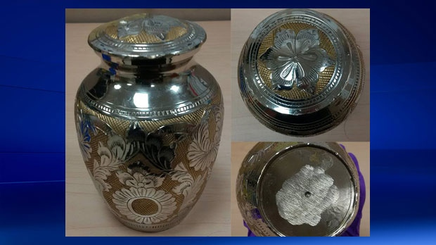 Urn found at recycling depot - Calgary