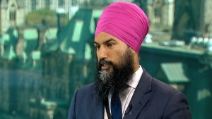 Federal NDP leadership candidate Jagmeet Singh says the government should decriminalize pot possession ahead of its legalization. (CTV)