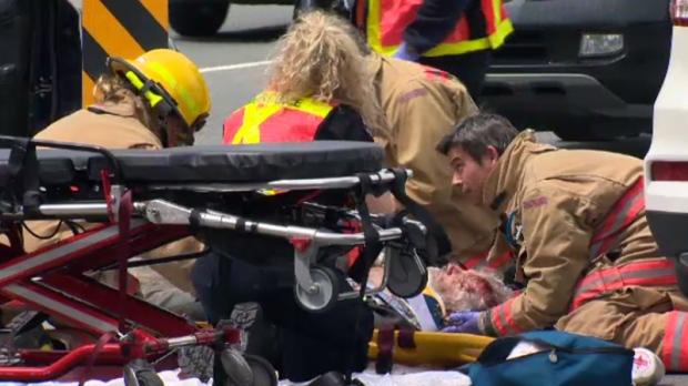 trans-canada highway cyclist struck