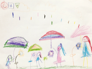 Weather art by Alexandra, age 6, from Harold Bishop Elementary.