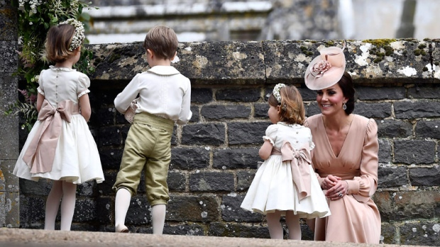 Kate, the Duchess of Cambridge, at wedding