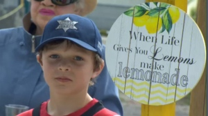 Tate Barton's lemonade stand - High River