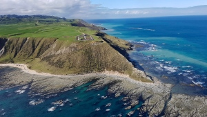 This Sept. 23, 2016 photo supplied by Rocket Lab, shows the launch site for the Electron rocket on the Mahia Peninsula in the North Island of New Zealand. (Rocket Lab via AP)