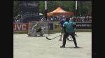 Close to 50 rinks have been constructed for an annual street hockey tournament that included a former NHLer.