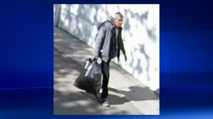 Surveillance camera still of the suspect in an alleged sexual assault of a five-year-old boy in an alleyway along Elbow Drive SW (Calgary Police Service)