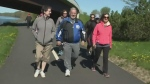 Wendell Betts held a walk to raise awareness of Severe Chronic Obstructive Pulmonary Disease (COPD) on Sunday, May 21, 2017.