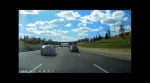 Dash cam video captures dangerous driving