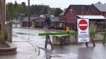 A flood warning remains in effect in Minden, Ont. on May 21, 2017 (CTV Barrie)