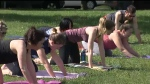 Yoga in Dude Chilling Park