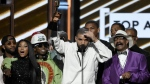 Drake accepts the top artist award at the Billboard Music Awards at the T-Mobile Arena in Las Vegas on Sunday, May 21, 2017. (Chris Pizzello / Invision)