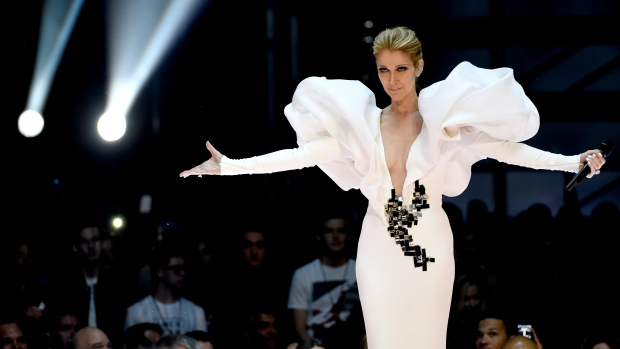 """Celine Dion performs """"My Heart will Go On"""" at the Billboard Music Awards at the T-Mobile Arena on Sunday, May 21, 2017, in Las Vegas. (Photo by Chris Pizzello/Invision/AP)"""